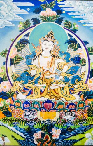 White Buddha by Lori Kozak