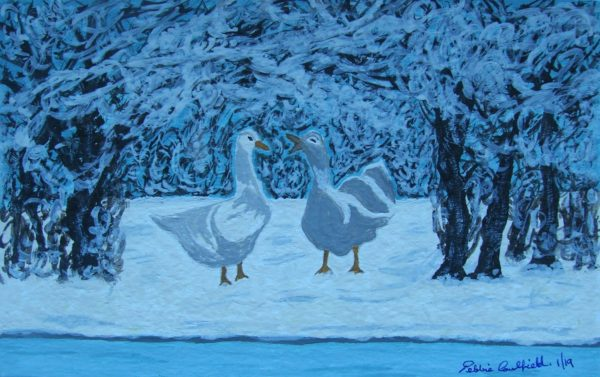 Winter Geese by Winter Ducks