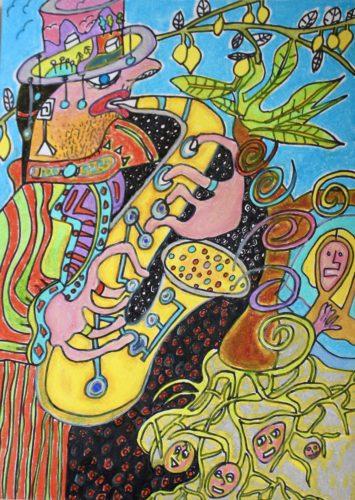 Sax man by Alex Horswood