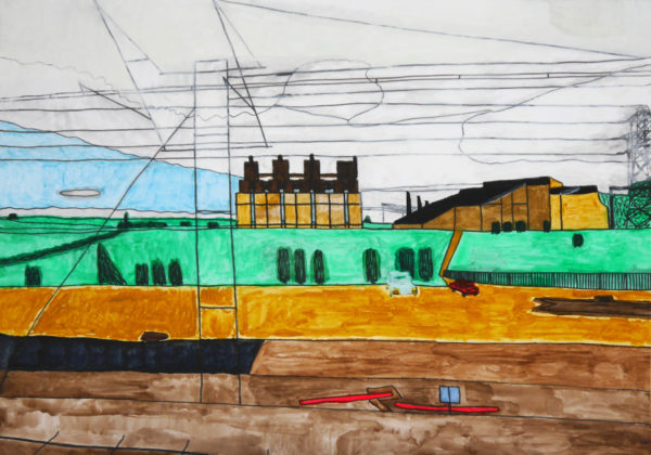 view-from-train-to-glasgow by Artist Mark Lloyd