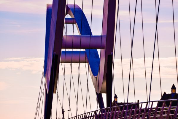 purple bridge by looking out