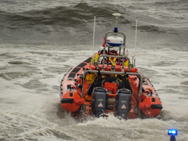 RNLI 1 by Sunsetting on Redcar windfarm