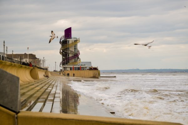 breezy day Redcar by Heather Hill