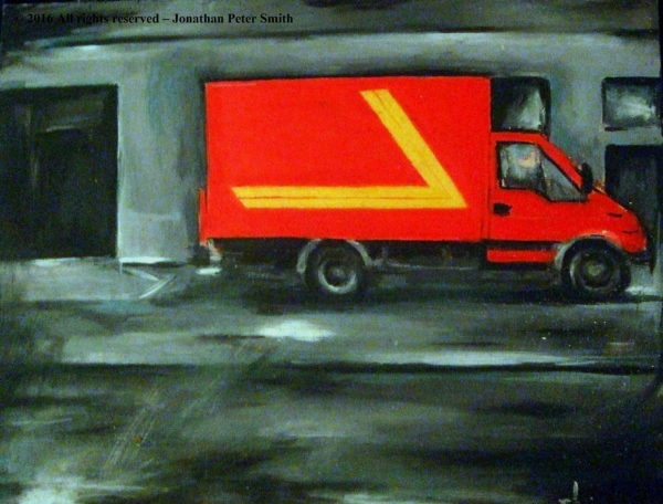 'Composition in Red Yellow and Grey'  2002 by The Old Post Office, Wanlockhead (Time Revisited)