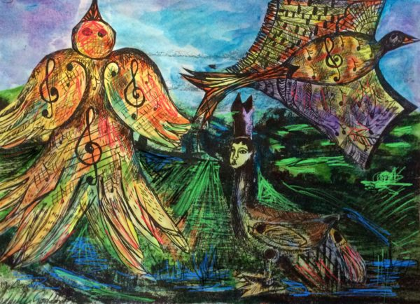 the Larks ascending by Three wise men the Kandinsky inspired work Tunisa