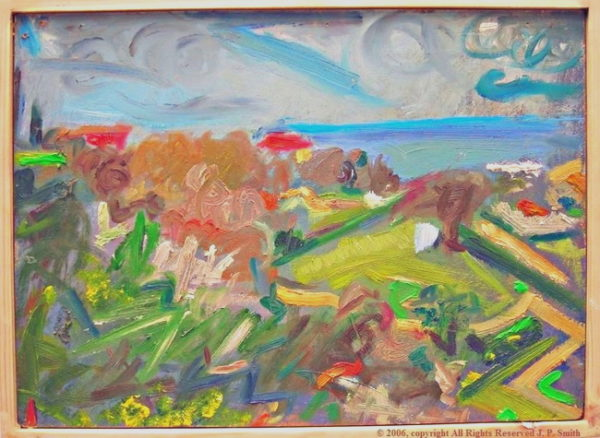 'Joyful Gusto (Lemba, Cyprus, Outdoor Painting)'  2005 by SOLD  'Glistening Jewels (Isle of Skye)'  2013