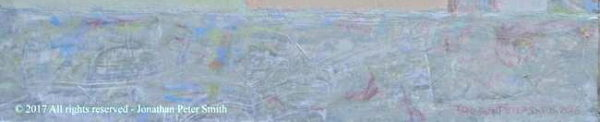 detail of 'Shoreham-by-Sea (Abstract Painting)'   2016 by 'Painting 4 (Driving Past a Scottish Loch)'  2004