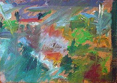 'Storm and Rain (Lemba Cyprus)'  2006 by SOLD  'Outdoor Painting # 2 (Flowers and Shrubbery) (Lemba, Cyprus)'