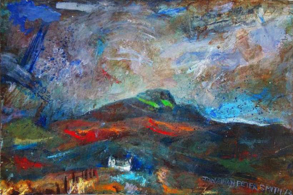SOLD  'Glistening Jewels (Isle of Skye)'  2013 by 'Painting 4 (Driving Past a Scottish Loch)'  2004