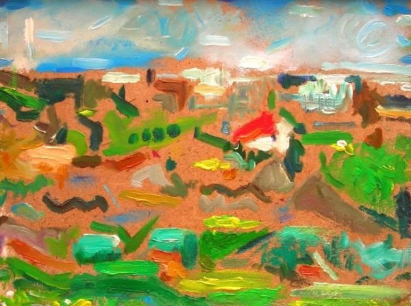 'Joyful Feast of Colour (Lemba, Cyprus)'  2006 by 'Abstract Colour Harmony (Winter 2015, Worthing Seafront)'  2016