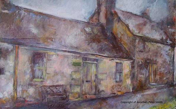 The Old Post Office, Wanlockhead (Time Revisited) by 'Painting 4 (Driving Past a Scottish Loch)'  2004