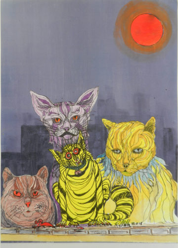Cats by Roy Milburn