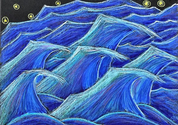 Race Waves…Race (This is what waves do at night under the stars out in the ocean) by Larry Paul Strang