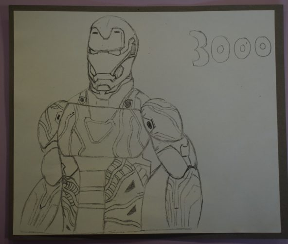 Iron Man Figure Sketch by david gibson