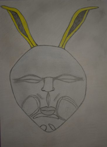 Human Rabbit Face by Melissa Hamilton