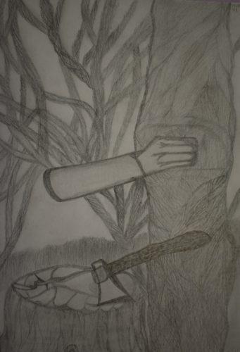 Tree Human Hand by Melissa Hamilton