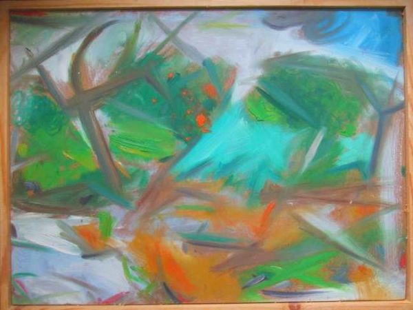 Dynamic Harmony (Lemba, Cyprus) by SOLD  'Outdoor Painting # 2 (Flowers and Shrubbery) (Lemba, Cyprus)'