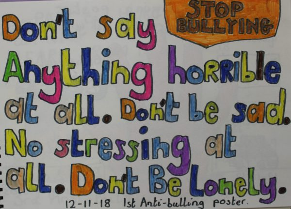 1st Anti Bullying Poster by Harrison Walsh