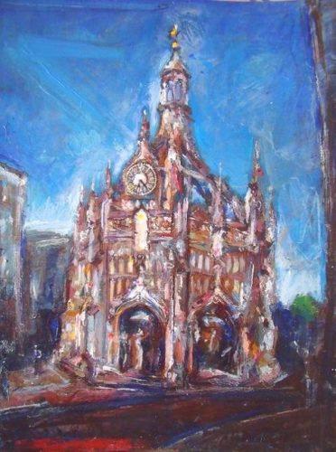 'The Market Cross in Chichester' by SOLD  'Glistening Jewels (Isle of Skye)'  2013