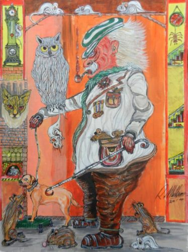 Owl, Man, and all manner of things by Roy Milburn