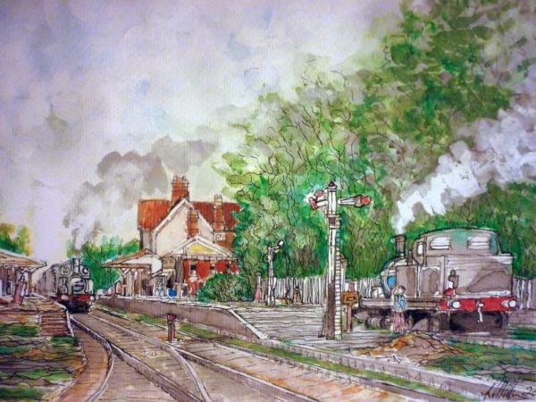 Steam Train Sheringham by Roy Milburn
