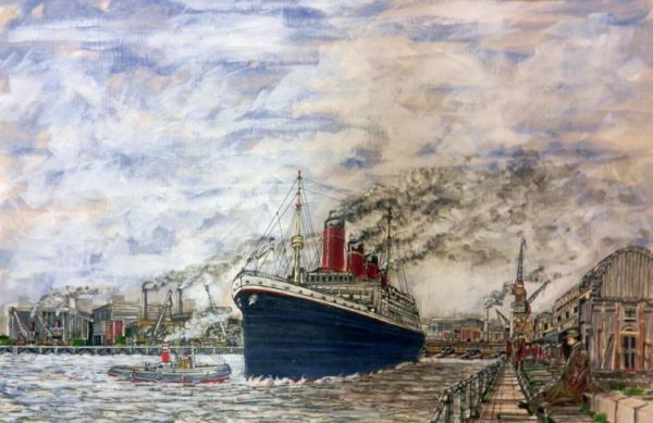 Titanic at Southampton Dock by Roy Milburn
