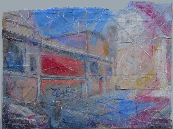 'Old Artefact (Rome Street, Old Walls, Ancient City)'  2018 by 'Abstract Colour Harmony (Winter 2015, Worthing Seafront)'  2016