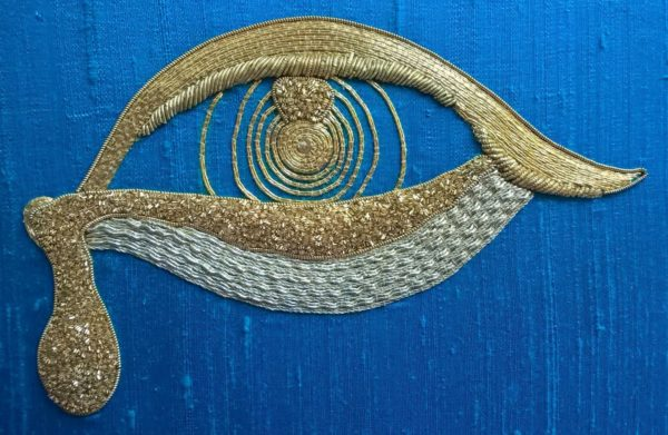 Weeping Goldwork Eye by Kate Rolison
