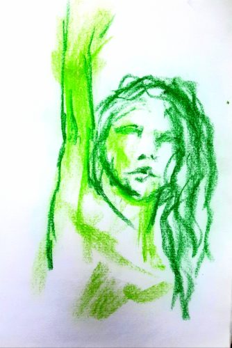 Reach by Oil Pastel Sketch V