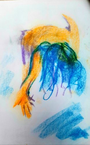 Forwards by Oil Pastel Sketch V