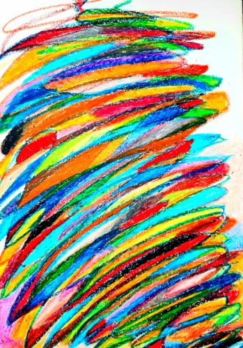 Rainbow Vortex by Oil Pastel Sketch V