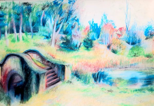 The Troll Bridge by Oil Pastel Sketch V