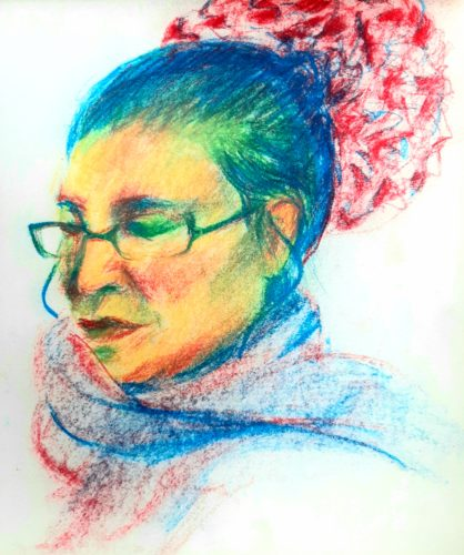 Mary Ellen v by Oil Pastel Sketch V