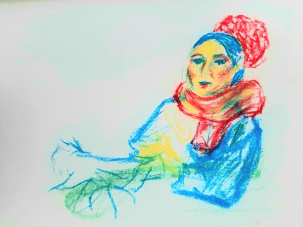 Mary Ellen i by Oil Pastel Sketch V