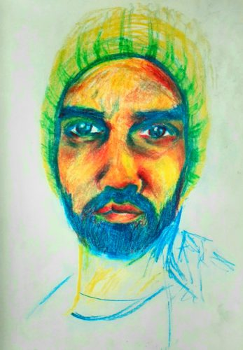 Keith by Oil Pastel Sketch V