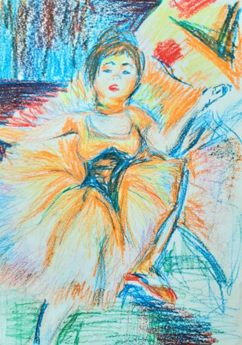 Loutrec by Oil Pastel Sketch V