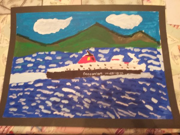 Arran Ferry by Andy Crosbie