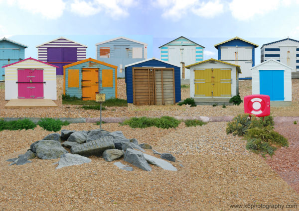 Beach. Huts. by Joel Apps