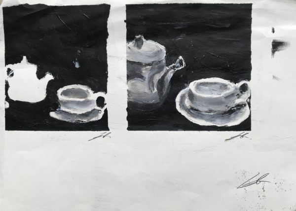Cup of tea time (at Pallant House Café) by Emma Richards