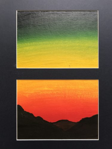 Sunset 1 (over mountains) by Emma Richards