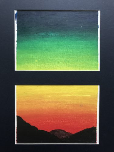 Sunset 2 (over mountains) by Emma Richards