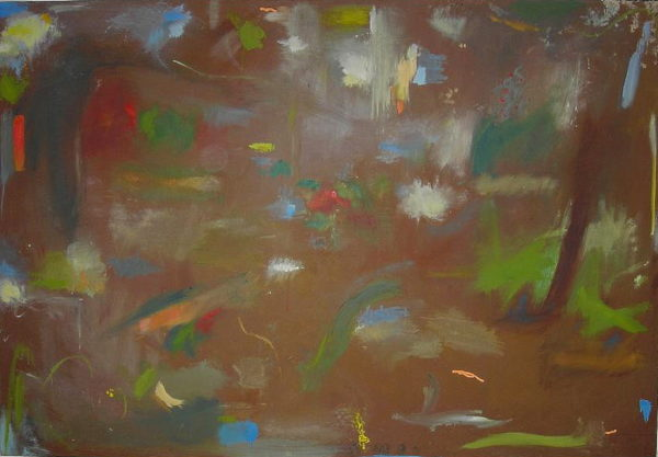 'Walking Through a Cypriot Wooded Landscape'   2005 by SOLD  'Outdoor Painting # 2 (Flowers and Shrubbery) (Lemba, Cyprus)'