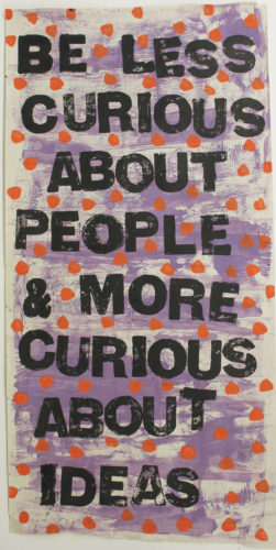 Be Less Curious by Ria