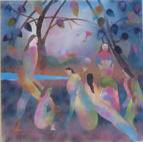 Bathers-2.-30×30-inches.-Acrylic.jpg by Trevor Summerfield