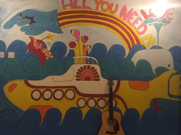 YELLOW SUBMARINE WALL MURAL by MAT THE OLD MAN