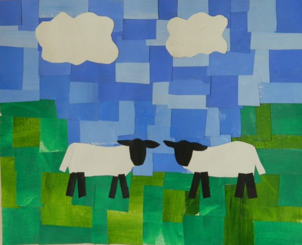 Sheep Collage by Design for Life