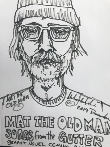 MAT THE OLD MAN-SELF PORTRAIT by MAT THE OLD MAN