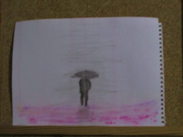 Lost in the rain by My art unfolding