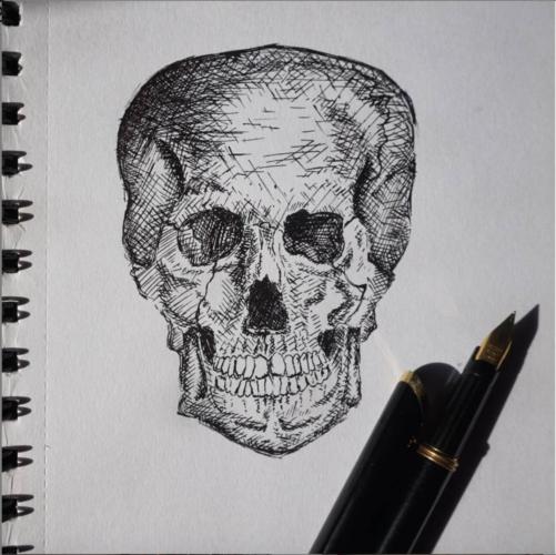 Ink Skull by NISHEXHIBITS
