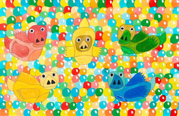Bubble Ducks by Sam  Parratt